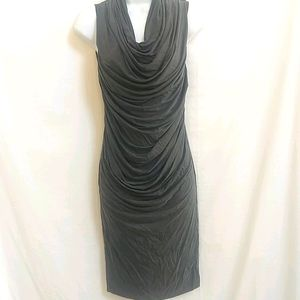 Helmut Lang Sueded Cupro Ruched Dress P